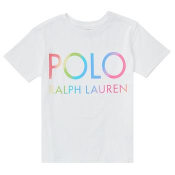 衣服 男孩 短袖体恤 Polo Ralph Lauren FERILO 白色