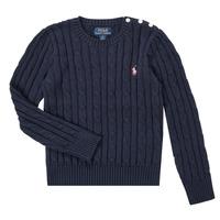 衣服 女孩 羊毛衫 Polo Ralph Lauren PETILA 海蓝色
