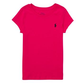 衣服 男孩 短袖体恤 Polo Ralph Lauren ASKIRA 玫瑰色