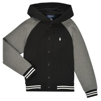 衣服 男孩 卫衣 Polo Ralph Lauren DENINO 黑色 / 灰色
