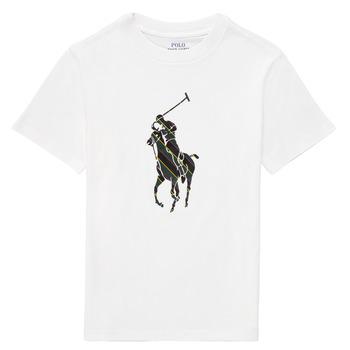 衣服 男孩 短袖体恤 Polo Ralph Lauren GUILIA 白色