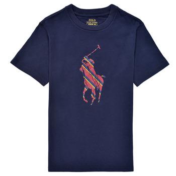 衣服 男孩 短袖体恤 Polo Ralph Lauren GUILIA 海蓝色