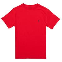 衣服 男孩 短袖体恤 Polo Ralph Lauren FOLLIA 红色