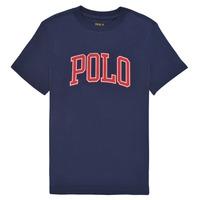 衣服 女孩 短袖体恤 Polo Ralph Lauren MATIKA 海蓝色