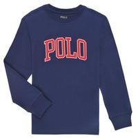 衣服 男孩 长袖T恤 Polo Ralph Lauren METIKA 海蓝色