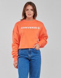 衣服 女士 卫衣 Converse 匡威 EMBROIDERED WORDMARK CREW 橙色