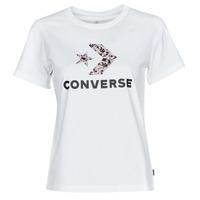 衣服 女士 短袖体恤 Converse 匡威 STAR CHEVRON HYBRID FLOWER INFILL CLASSIC TEE 白色