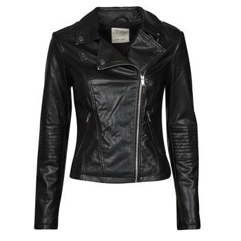 衣服 女士 皮夹克/ 人造皮革夹克 Esprit 埃斯普利 PU BIKER 黑色