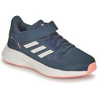 鞋子 女孩 跑鞋 adidas Performance 阿迪达斯运动训练 RUNFALCON 2.0 C 海蓝色 / 玫瑰色