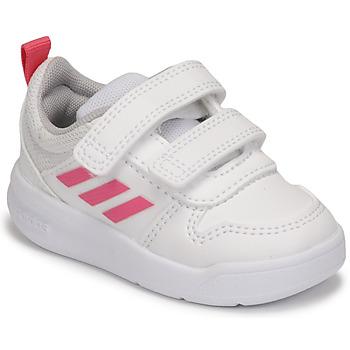 鞋子 女孩 球鞋基本款 adidas Performance 阿迪达斯运动训练 TENSAUR I 白色 / 玫瑰色