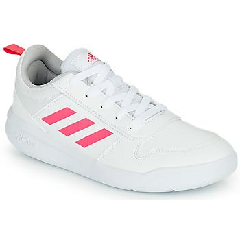 鞋子 女孩 球鞋基本款 adidas Performance 阿迪达斯运动训练 TENSAUR K 白色 / 玫瑰色