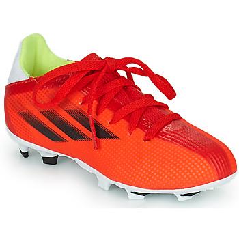 鞋子 儿童 足球 adidas Performance 阿迪达斯运动训练 X SPEEDFLOW.3 FG J 红色