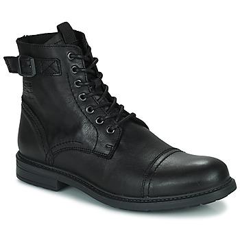 鞋子 男士 短筒靴 Jack & Jones 杰克琼斯 JFW SHELBY LEATHER 黑色