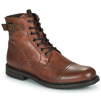 鞋子 男士 短筒靴 Jack & Jones 杰克琼斯 JFW SHELBY LEATHER 棕色