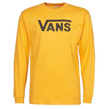 衣服 男士 长袖T恤 Vans 范斯 VANS CLASSIC LS 黄色 / 黑色