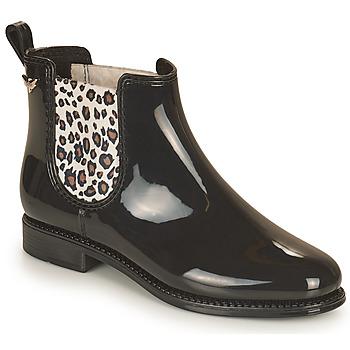 鞋子 女士 雨靴 Les P'tites Bombes RAIN 黑色 / Leopard