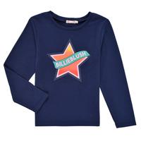 衣服 女孩 长袖T恤 Billieblush DEKOU 海蓝色
