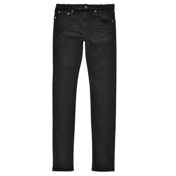 衣服 男孩 牛仔铅笔裤 Teddy Smith 泰迪 史密斯 FLASH SKINNY 黑色