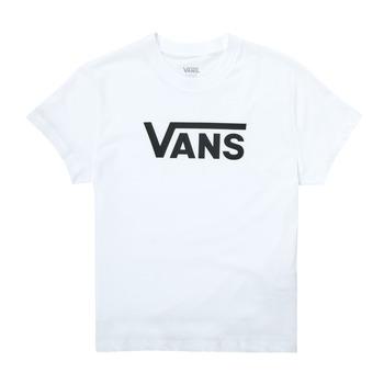 衣服 女孩 短袖体恤 Vans 范斯 FLYING V SS 白色