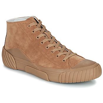 鞋子 男士 高帮鞋 Kenzo TIGER CREST HIGH TOP SNEAKERS 驼色
