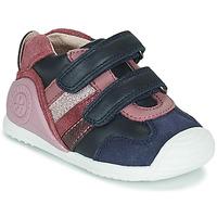 鞋子 女孩 球鞋基本款 Biomecanics BIOGATEO SPORT 海蓝色 / 玫瑰色