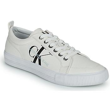 鞋子 女士 球鞋基本款 Calvin Klein Jeans VULCANIZED LACEUP SNEAKER 白色