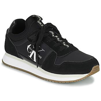 鞋子 女士 球鞋基本款 Calvin Klein Jeans RUNNER LACEUP 黑色
