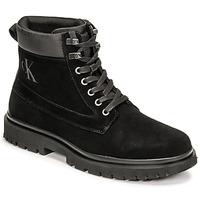 鞋子 男士 短筒靴 Calvin Klein Jeans LUG MID LACEUP BOOT HIKE 黑色
