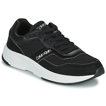 鞋子 男士 球鞋基本款 Calvin Klein Jeans LOW TOP LACE UP MIX 黑色