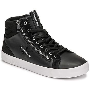 鞋子 男士 高帮鞋 Calvin Klein Jeans VULCANIZED MID LACEUP 黑色