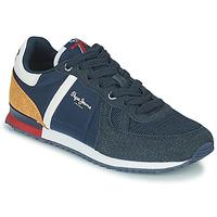 鞋子 男孩 球鞋基本款 Pepe jeans SYDNEY COMBI BOY 海蓝色 / 棕色