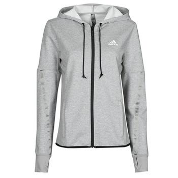 衣服 女士 运动款外套 adidas Performance 阿迪达斯运动训练 METRED 灰色 / Moyen