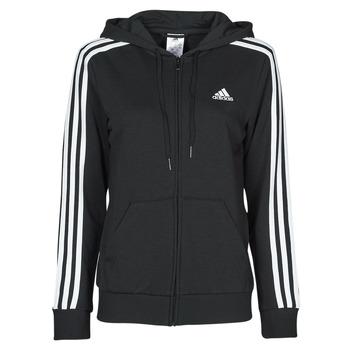 衣服 女士 卫衣 adidas Performance 阿迪达斯运动训练 W 3S FT FZ HD 黑色