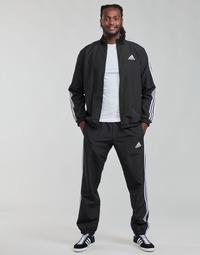 衣服 男士 厚套装 adidas Performance 阿迪达斯运动训练 M 3S WV TT TS 黑色