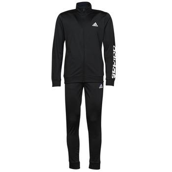 衣服 男士 厚套装 adidas Performance 阿迪达斯运动训练 M LIN TR TT TS 黑色