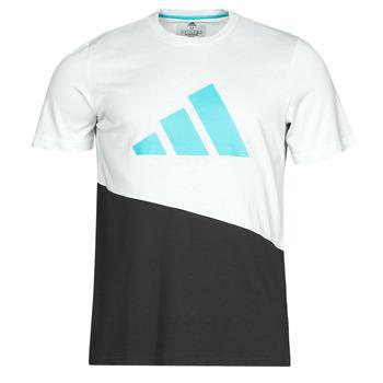 衣服 男士 短袖体恤 adidas Performance 阿迪达斯运动训练 FUTURE BLK TEE 白色 / Cristal