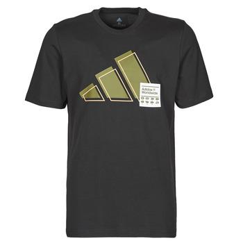 衣服 男士 短袖体恤 adidas Performance 阿迪达斯运动训练 3BAR LOGO TEE 黑色
