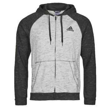 衣服 男士 运动款外套 adidas Performance 阿迪达斯运动训练 M MEL FZ HD 灰色 / Moyen