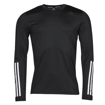 衣服 男士 长袖T恤 adidas Performance 阿迪达斯运动训练 TF LS FT 3S 黑色