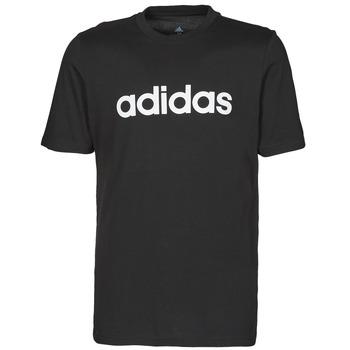 衣服 男士 短袖体恤 adidas Performance 阿迪达斯运动训练 M LIN SJ T 黑色