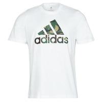 衣服 男士 短袖体恤 adidas Performance 阿迪达斯运动训练 M CAMO T 白色