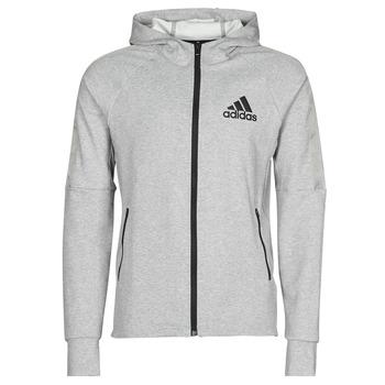衣服 男士 运动款外套 adidas Performance 阿迪达斯运动训练 M MT FZ HD 灰色 / Moyen