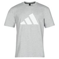 衣服 男士 短袖体恤 adidas Performance 阿迪达斯运动训练 M FI 3B TEE 灰色 / Moyen