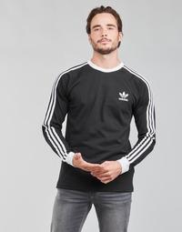 衣服 男士 长袖T恤 Adidas Originals 阿迪达斯三叶草 3-STRIPES LS T 黑色