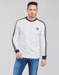 衣服 男士 长袖T恤 Adidas Originals 阿迪达斯三叶草 3-STRIPES LS T 白色