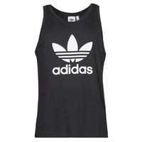 衣服 男士 无领短袖套衫/无袖T恤 Adidas Originals 阿迪达斯三叶草 TREFOIL TANK 黑色
