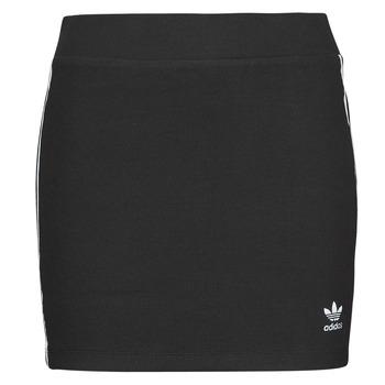 衣服 女士 半身裙 Adidas Originals 阿迪达斯三叶草 3STRIPES SKIRT 黑色