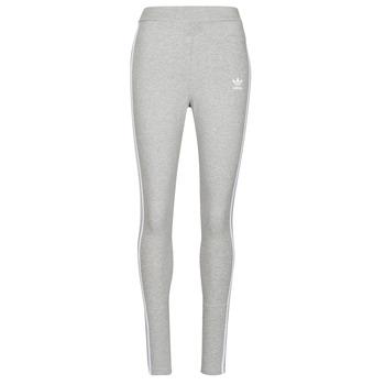 衣服 女士 紧身裤 Adidas Originals 阿迪达斯三叶草 3 STRIPES TIGHT 灰色 / Moyen