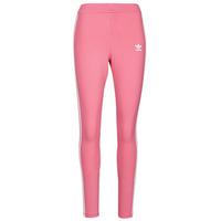 衣服 女士 紧身裤 Adidas Originals 阿迪达斯三叶草 4 STRIPES TIGHT 玫瑰色