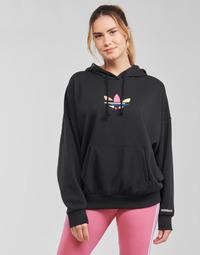 衣服 女士 卫衣 Adidas Originals 阿迪达斯三叶草 HOODIE 黑色